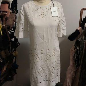 Theory White Crepe Dress